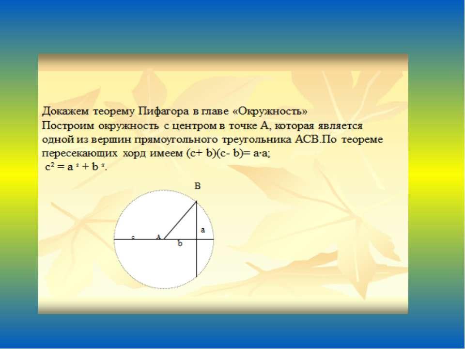 С глубокой древности математики находят все новые и новые доказательства теор...