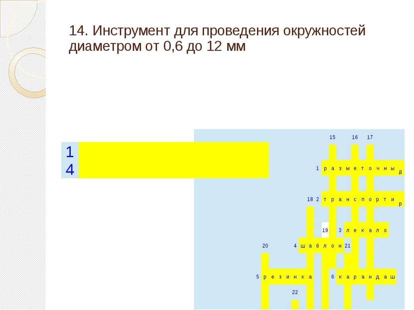 14. Инструмент для проведения окружностей диаметром от 0,6 до 12 мм 15 16 17 ...
