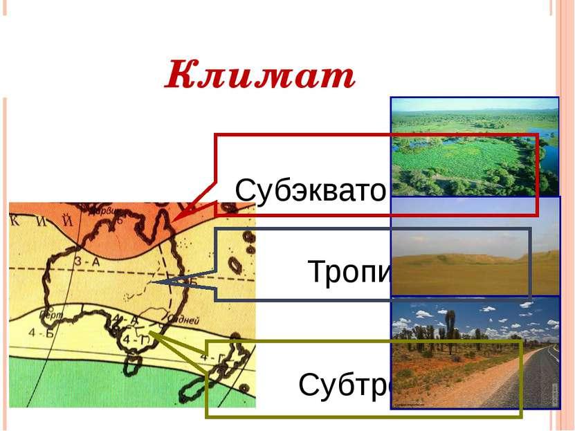Климат Субэкваториальный Тропический Субтропический