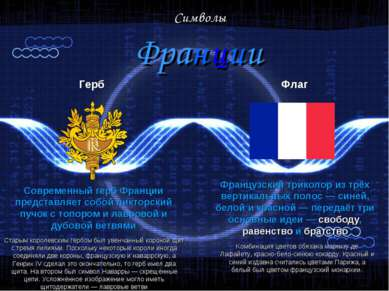 Символы Франции Герб Современный герб Франции представляет собой ликторский п...