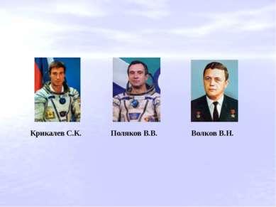 Крикалев С.К. Поляков В.В. Волков В.Н.