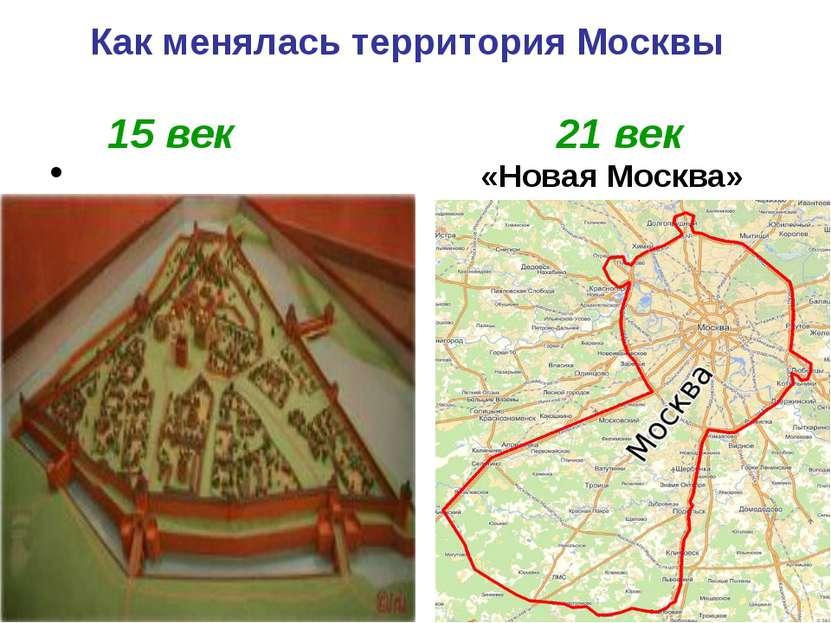 Как менялась территория Москвы 15 век 21 век «Новая Москва»