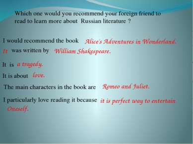 Which one would you recommend your foreign friend to read to learn more about...