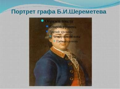 Портрет графа Б.И.Шереметева