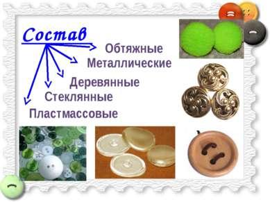 Состав Деревянные Пластмассовые Стеклянные Металлические Обтяжные