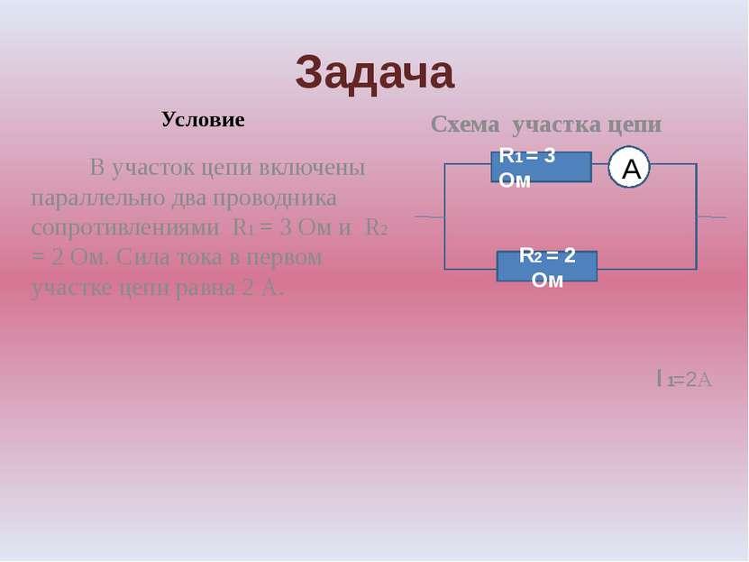 Задача Условие В участок цепи включены параллельно два проводника сопротивлен...