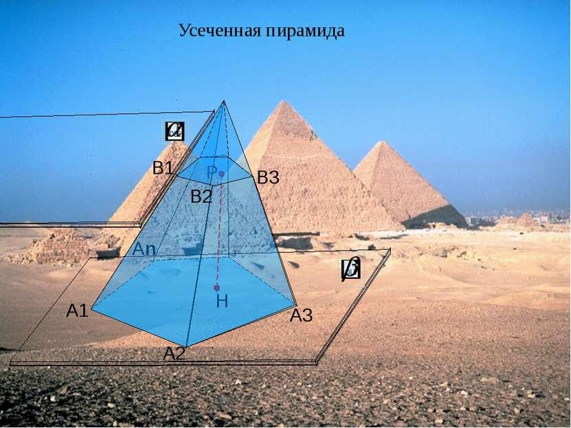 А1 А2 Аn А3 Усеченная пирамида Р В1 В2 В3
