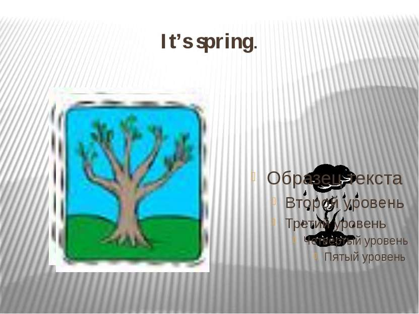 It's spring.