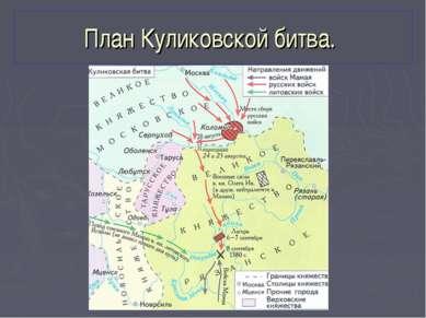 План Куликовской битва.