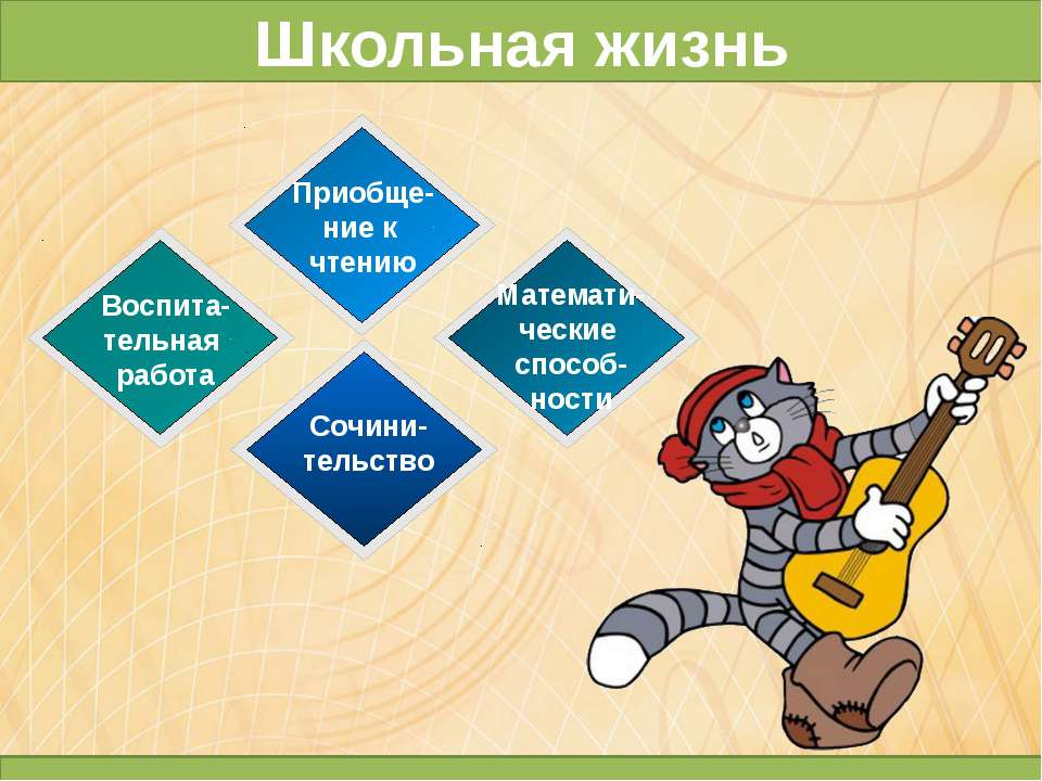 Приобще- ние к чтению Воспита- тельная работа Математи- ческие способ- ности ...