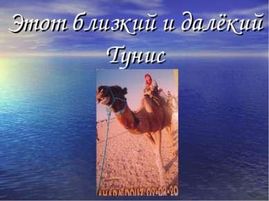 Этот близкий и далёкий Тунис
