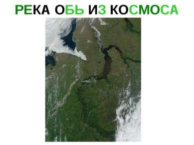 РЕКА ОБЬ ИЗ КОСМОСА Река обь из космоса