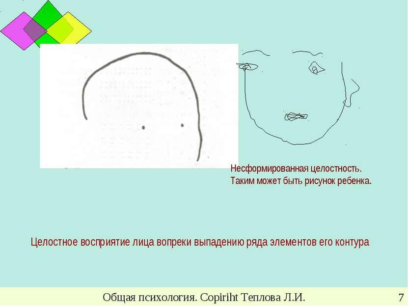 Общая психология. Copiriht Теплова Л.И. * Целостное восприятие лица вопреки в...
