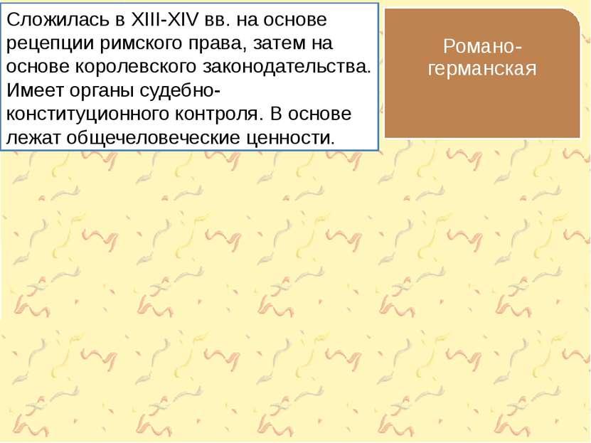 Сложилась в XIII-XIV вв. на основе рецепции римского права, затем на основе к...