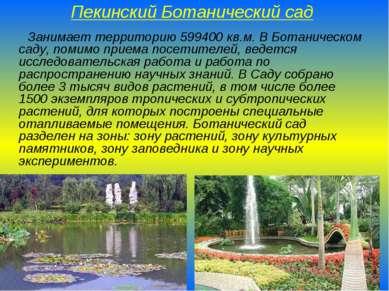 Пекинский Ботанический сад Занимает территорию 599400 кв.м. В Ботаническом са...