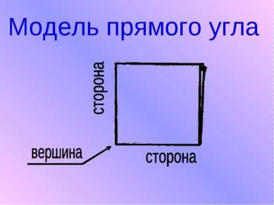 Модель прямого угла