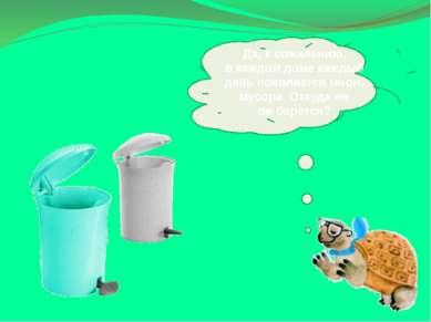 Да, ксожалению, вкаждом доме каждый день появляется много мусора. Откудаже...