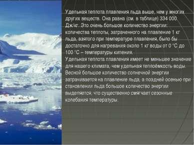 Удельная теплота плавления льда выше, чем у многих других веществ. Она равна ...