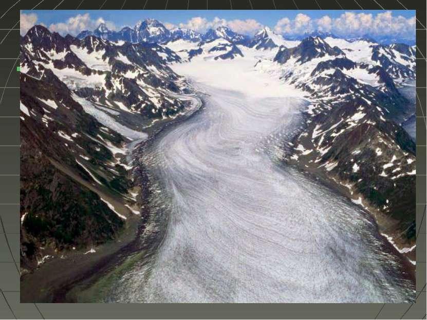 Лёд в природе В холодных районах нашей планеты образуются ледники — большие п...