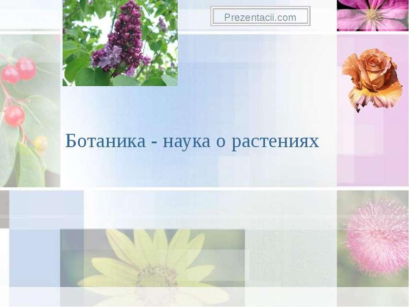 Ботаника - наука о растениях Prezentacii.com