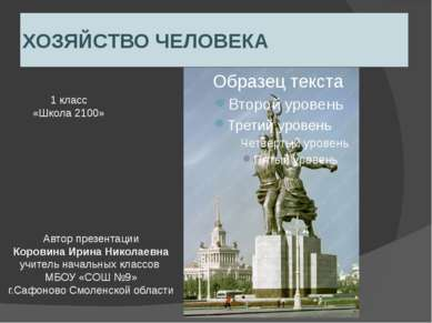 ХОЗЯЙСТВО ЧЕЛОВЕКА Автор презентации Коровина Ирина Николаевна учитель началь...