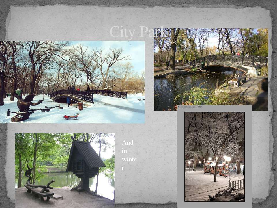 City Park And in winter