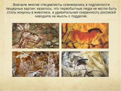 Вначале многие специалисты сомневались в подлинности пещерных картин: казалос...