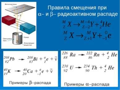 Правила смещения при a- и b- радиоактивном распаде