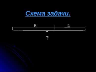 Схема задачи. ________ 5_____________4 ______ ?