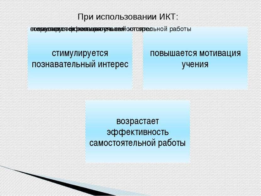 При использовании ИКТ: