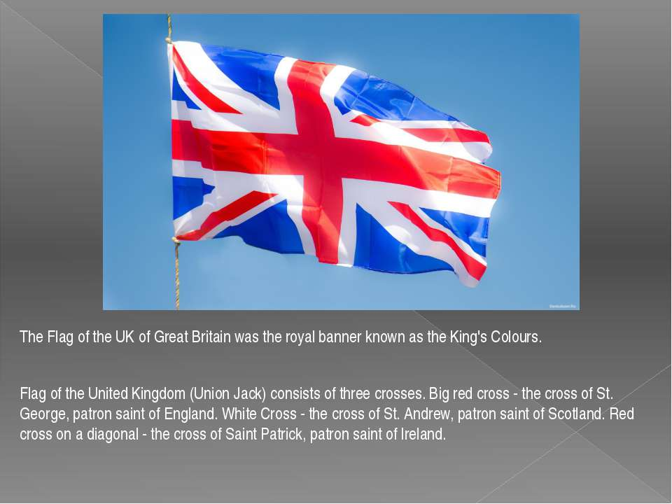 The Flag of the UK of Great Britain was the royal banner known as the King's ...