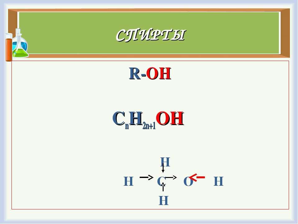 СПИРТЫ R-OH СnH2n+1OH H H C O H H