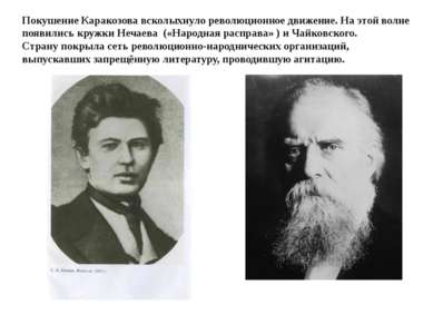 Покушение Каракозова всколыхнуло революционное движение. На этой волне появил...