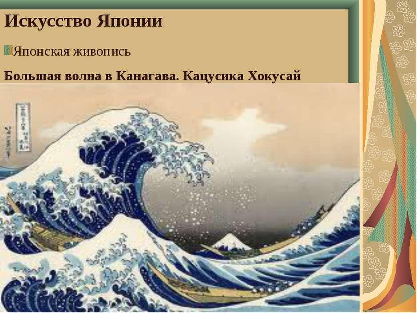 Искусство Японии Японская живопись Большая волна в Канагава. Кацусика Хокусай