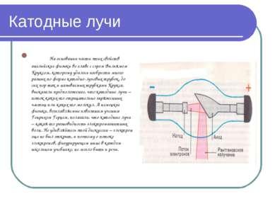 Катодные лучи На основании части этих свойств английские физики во главе с сэ...
