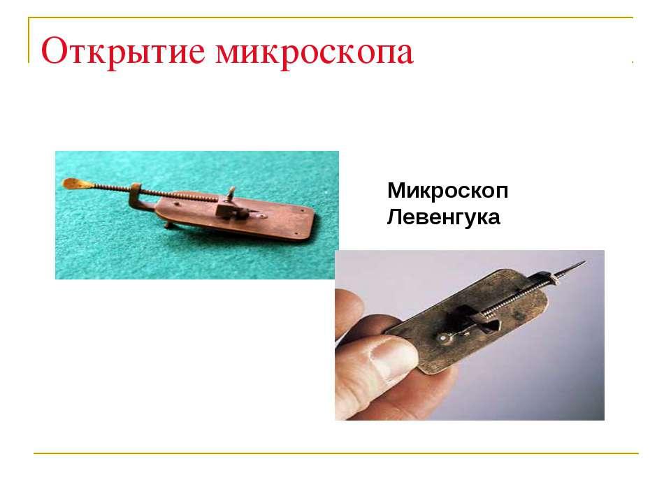 Открытие микроскопа