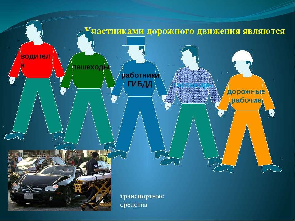 Участниками дорожного движения являются транспортные средства водители пешехо...