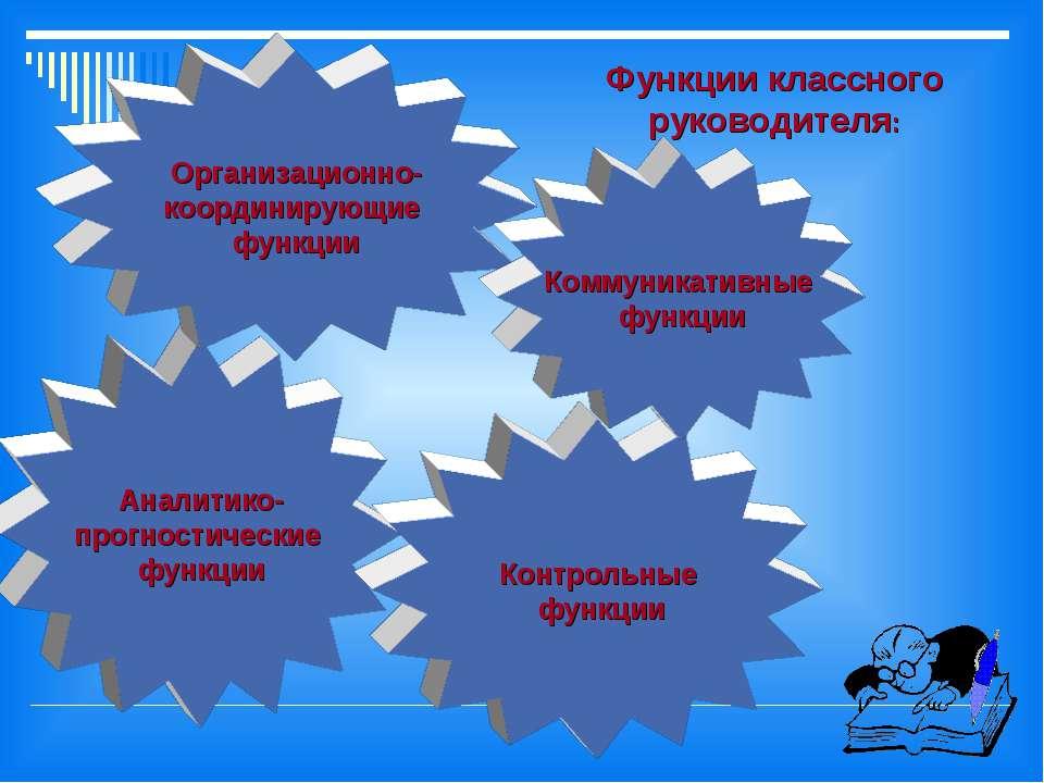 Аналитико- прогностические функции Организационно- координирующие функции Кон...