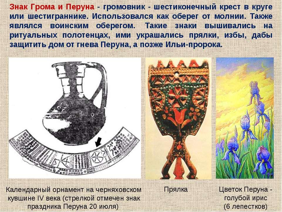 Знак Грома и Перуна - громовник - шестиконечный крест в круге или шестигранни...