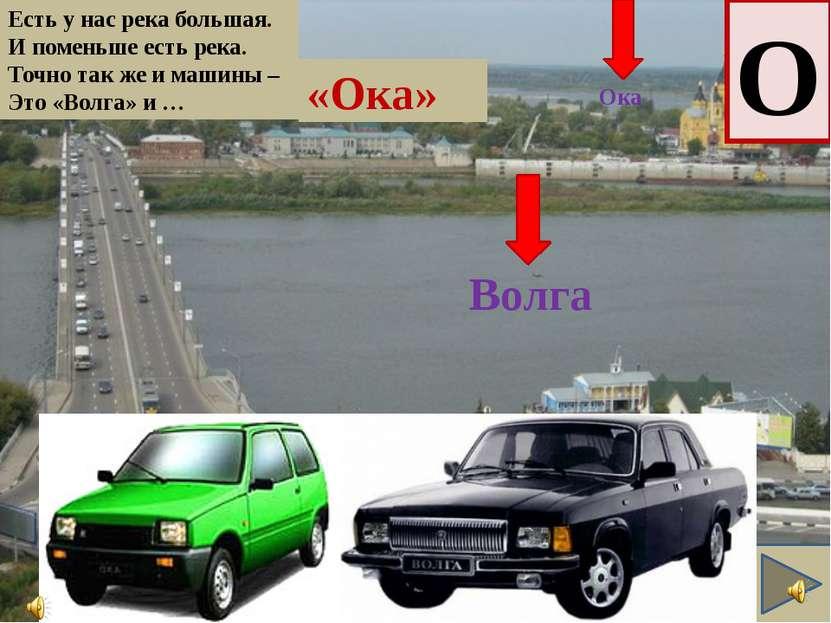 Есть у нас река большая. И поменьше есть река. Точно так же и машины – Это «В...