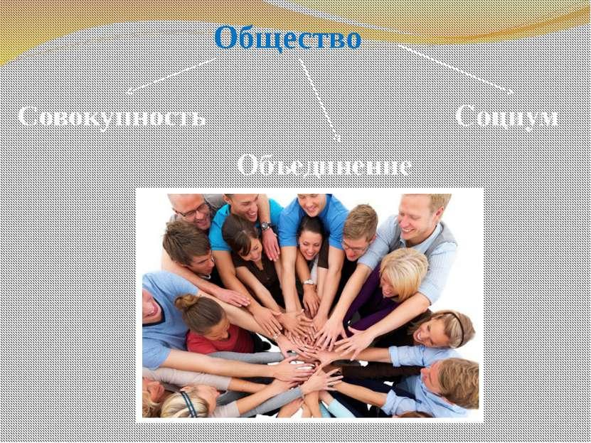 Общество Совокупность Социум Объединение
