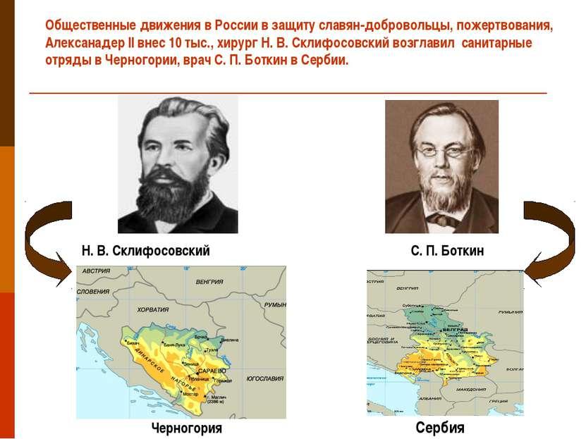 Общественные движения в России в защиту славян-добровольцы, пожертвования, Ал...