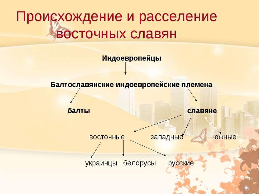 Происхождение и расселение восточных славян Индоевропейцы Балтославянские инд...