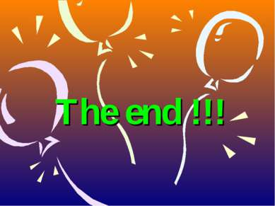 The end !!!