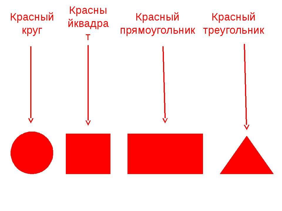 Красныйквадрат Красный круг Красный прямоугольник Красный треугольник