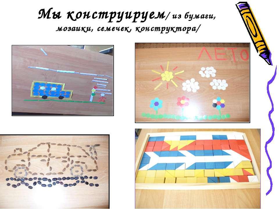 Мы конструируем/ из бумаги, мозаики, семечек, конструктора/