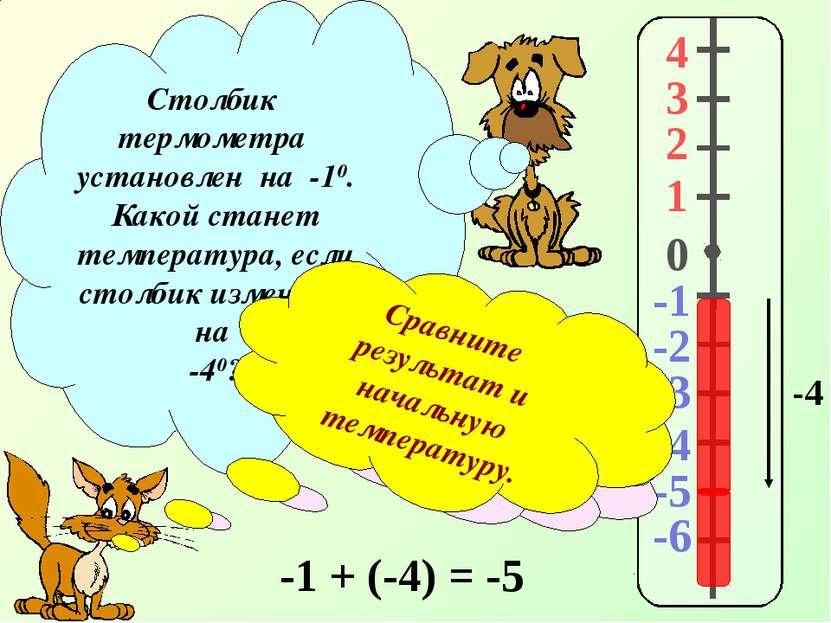 4 3 2 1 -1 0 -2 -3 -4 -5 -6 Столбик термометра установлен на -10. Какой стане...