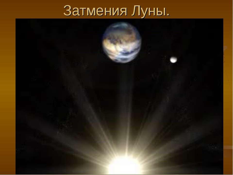Затмения Луны.