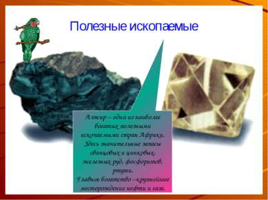 Полезные ископаемые Алжир – одна из наиболее богатых полезными ископаемыми ст...