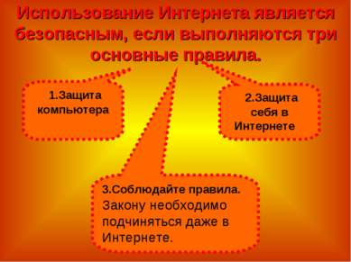 Использование Интернета является безопасным, если выполняются три основные пр...